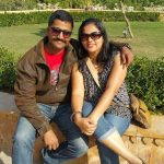 Major Gosavi Kunal Mannadir with his wife