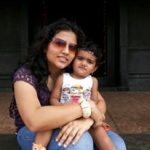 Major Gosavi Kunal Mannadir's wife and daughter