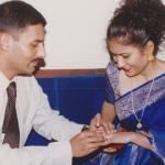 Major Navneet Vats and his wife