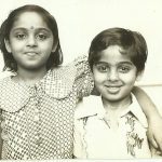 Major P Shyam Sundar with sister Maya Balaji