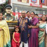 Major Padmapani Acharya's family paying tributes on his birthday in Hyderabad