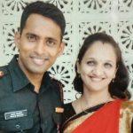 Major Prasad Mahadik with his wife Gauri