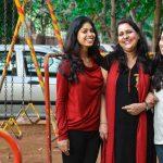 Major Sanjay Baduni's family, wife Kamal and daughters Snigdha and kanishka