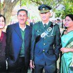 Major Shikhar Thapa with his family