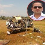 The ill fated helicopter of Major Sanjeev Lathar
