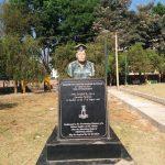 Major Sylvester Rajesh Ratnam's bust erected in his honour