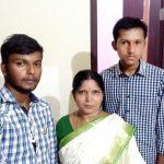 Sep Basavarj's wife and sons