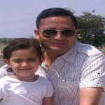 Maj Sanjeev Lathar with his daughter