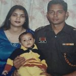 Major Avinash with his wife Shalini and son Dhruv