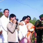 The grieving sister of Late Maj Jyotin