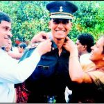 Major Sandeep Unnikrishnan, as a young officer during Passing Out Parade