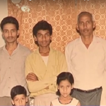 Naik Ramber singh with his family