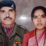 Naik Yashwanth Durgappa with his wife Savithri