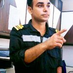 Lt Cdr Kapish Munwal in his working uniform