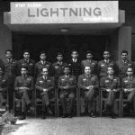 "Personnel of No.20 Sqn. before the 1971 war.From Left to Right Standing: Shirke, Balasubramanian (VrC), ""Bond"" Heble, Chowfin, Sahu, Suraj Kumar, Arun Prakash (VrC), K.P. Muralidharan (killed), R DeMonte, Gahlaut, Mooko (GD), A.K. ""Bomber"" Sharma.From Left to Right Sitting: Kailey, Sahai, Bajpai, F.J. Mehta (VrC with OTU), C.V. Parker (MVC), Jal Mistry (Killed - VrC), A.A.D. Rozario, ""Doc"" Kochar, C.S. Dhillon (VM)."