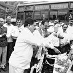 People paying their tributes to Sqn Ldr A B Devayya