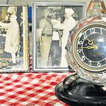 Old photographs of late brigadier Sant Singh, MVC & Bar and the Alarm clock which was seized from the office of Maj Gen Niazi of Pakistan