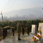 Army pays tributes at the statue of Nb Sub Chuni lal