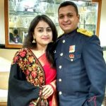Major Praful Moharkar with his wife Aboli