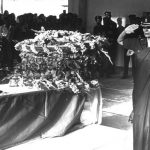 Rajshree Bisht, an Army Medical Corps officer and wife of Major Gupta paying her final respects at the funeral of her husband