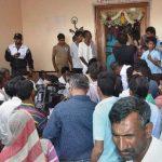 Family members of Lance Naik Hanumanthappa at his home at Betadur in Hubli
