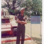 Major P Shyam Sundar during duty
