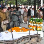 Last rites being conducted for Brig Sant Singh