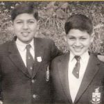 2nd Lt Arun Khetarpal with his brother Mukesh in Sanawar