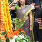 Shakuntala Bhandarkar, wife of Lt Col Ajit Bhandarkar, pays tributes to her husband