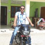 Sepoy Shiv Singh with his bike