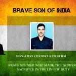 Signalman Chandan Kumar Rai