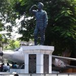 Statue of Nirmal Jit Singh Sekhon and his aircraft,