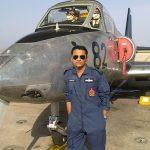 Fg Offr Suraj Pillai with his aircraft