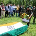 The Indian Army pays tribute to Lt. Ummer Fayaz..