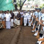 The Mortal Remains of Flying Officer Suraj Pillai, were brought to Naval Air Station Kochi