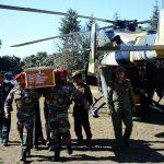 Mortal remains of Martyr Lance Naik Om Prakash reach his hometown Chikhal Village, Himachal Pradesh