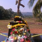 Tributes with flowers at the memorial of Sep Anil Kumar Kadam