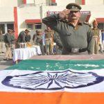 Tributes being paid to Sepoy Jagannath Gadhage