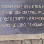 Stadium at Lawrence School Sanawar in his honour