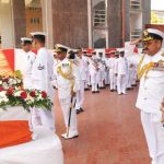 Vice Admiral Shekhar Sinha met the family of the deceased officer and expressed his deepest condolences