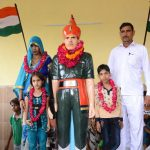 Sepoy Babloo Singh's family member with his memorial