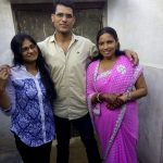Sepoy Babloo Singh with his family members