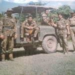 Col Kanwar Jaideep Singh with his unit mates at a forward location