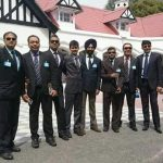 Wing Commander Mandeep Singh Dhillon with his colleagues