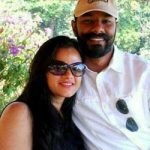 Wing Commander Mandeep Singh Dhillon with his wife Mrs Prabpreet Kaur