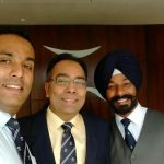 Wg cdr Mandeep singh with his friends