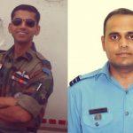 Wing Commander Vikas Upadhyay and Vikas Puri
