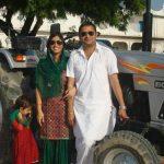 Major Sanjeev Lathar wih his wife Shalini
