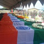 Mortal remains of victims of Manipur attack wrapped in Tricolour