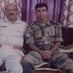 Capt Ayush Yadav with his father